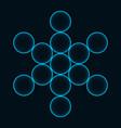 flower life sacred geometry symbol harmony vector image vector image