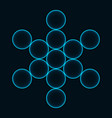 flower of life sacred geometry symbol of harmony vector image vector image