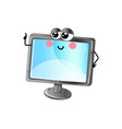 funny lcd tv cartoon character vector image vector image