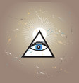 graphic all-seeing eye vector image