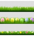 green grass borders collection transparent vector image vector image