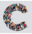 group people shape letter C Transparency vector image vector image