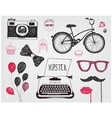 hand-drawn set hipster style elements vector image