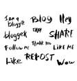 hand lettering for social media networks vector image vector image
