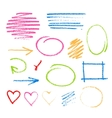 Handwritten coal on a white paper vector image vector image