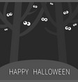 happy halloween landscape with scary tree forest vector image