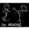 Ice skating vector image