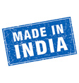 India blue square grunge made in stamp vector image vector image