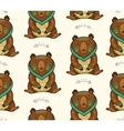 indian seamless pattern bear in vector image vector image