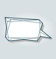 low polygon blue speech talk balloon diamond vector image vector image