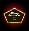 merry christmas text lettering design card vector image vector image