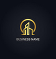 modern building realty gold logo vector image vector image