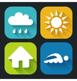 Modern Flat icons for Web and Mobile Applications vector image