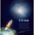 Moon Exploration Poster vector image