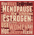 New Estrogen Therapy For Menopause text background vector image vector image