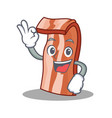 Okay bacon character cartoon style vector image