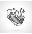 Paintball helmet flat line icon vector image