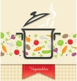 pan with vegetable food vector image vector image