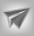 Paper airplane sign pencil sketch
