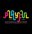 playful style font design childish alphabet vector image