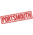 Portsmouth red square stamp vector image vector image