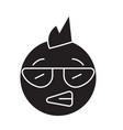 punk emoji black concept icon punk emoji vector image vector image