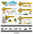 road trip travel car tourism infographic design vector image vector image