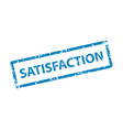satisfaction stamp texture rubber cliche imprint vector image