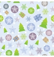 Seamless background Merry Christmas Card green vector image vector image