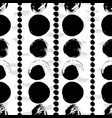 Seamless black and white hand drawn pattern vector image