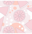 seamless pattern background with lemon vector image vector image