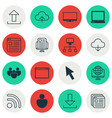 set of 16 world wide web icons includes team