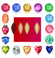 set of colored gems vector image