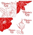 Set of valentines day greeting cards vector image vector image
