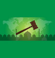 sharia islam law justice verdict case legal gavel vector image