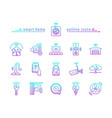 smart home gradient outline icons vector image
