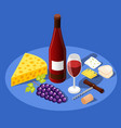 still life wine background vector image