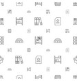 storage icons pattern seamless white background vector image vector image