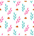 summer seamless pattern of abstract plants and vector image
