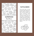 superfood card template with place for your text vector image vector image