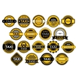 Taxi labels in retro style vector image