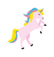 unicorn cartoon icon image vector image vector image