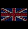 united kingdom flag mosaic of bank building icons vector image