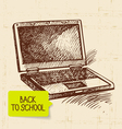 Vintage hand drawn back to school background vector image