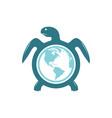 world tortoise design vector image