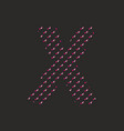 x dotted alphabet letter isolated on black backgro vector image