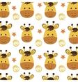 yellow giraffe cartoon background vector image vector image
