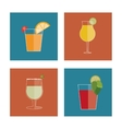 Cocktail drink icon in flat design style Alcohol vector image