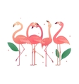 Flamingos in the form of numbers 2017 vector image