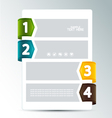 numbered options vector image